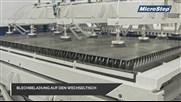 Automatizácia: laserový rezací stroj s manipulátormi a zaťažovací systém z plechu