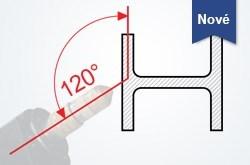 Plná flexibilita vďaka 120° úkosovej rezacej hlave