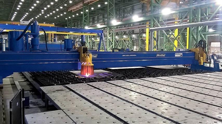 Riešenie termálneho delenia materiálov v lodeniciach zabezpečuje nový typ portálového páliaceho stro